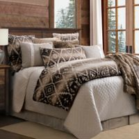 HiEnd Accents Aztec Chalet Reversible Queen Comforter Set in Brown