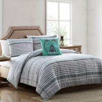 Morgan Home Harvey Reversible Full/Queen Comforter Set in Grey