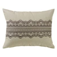 HiEnd Accents Charlotte Oblong Throw Pillow in Cream