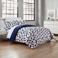 Valerie Reversible Twin/Twin XL Comforter Set in Navy/Yellow