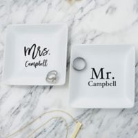 Mr. & Mrs. Personalized Ring Dish