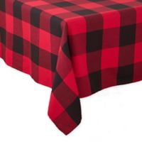Saro Lifestyle Birmingham Plaid 90-Inch Square Tablecloth in Red