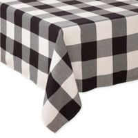 Saro Lifestyle Birmingham Plaid 90-Inch Square Tablecloth in Black