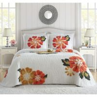 Autumn King Bedspread in White