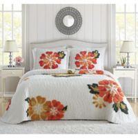 Autumn Queen Bedspread in White