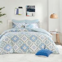 Echo™ Carnivale Reversible Twin Duvet Cover Set in Blue