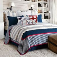 HiEnd Accents Liberty Reversible Twin Quilt Set in Navy