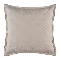 Bridge Street Almina European Pillow Sham in Taupe