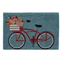 "Liora Manne Bike Ride 2'6"" X 4' Tufted Accent Rug in Blue"
