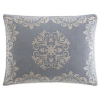 Opulence Jacquard Standard Pillow Sham in Blue