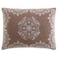 Opulence Jacquard Standard Pillow Sham in Beige