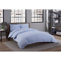 Garment Washed Twin/Twin XL Duvet Cover Set in Periwinkle