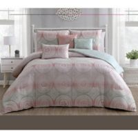 Zuma 6-Piece Reversible Queen Comforter Set in Pastel