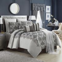 Parker 14-Piece Queen Comforter Set in Silver/Grey