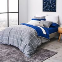 Lacoste Xare Reversible Twin Duvet Cover Set in Blue/Grey