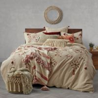 Tassel Embroidery Full/Queen Duvet Cover in Natural
