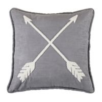 HiEnd Accents Free Spirit Arrow Square Throw Pillow in Brown