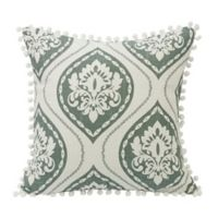 HiEnd Accents Graphic Print Square Throw Pillow in Green