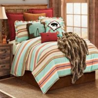 HiEnd Accents Serape Reversible King Duvet Cover in Turquoise