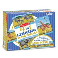 Melissa & Doug® Safari 96-Piece Linking Puzzle