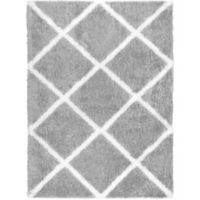 Home Dynamix Carmela 7-Foot 10-inch x 10-Foot 2-Inch Shag Area Rug in Grey