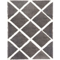 Home Dynamix Carmela 7-Foot 10-Inch x 10-Foot 2-Inch Shag Area Rug in Dark Grey