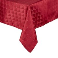 Saro Lifestyle Scintillio 70-Inch Square Tablecloth in Burgundy