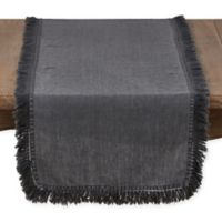 Saro Lifestyle Refined Rustic 72-Inch Table Runner in Slate