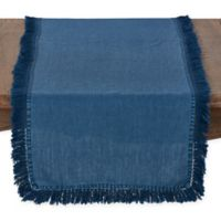 Saro Lifestyle Refined Rustic 72-Inch Table Runner in Navy