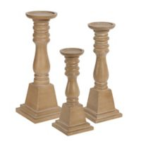 Kate and Laurel® 3-Piece Comstock Pillar Candle Holder Set in Natural