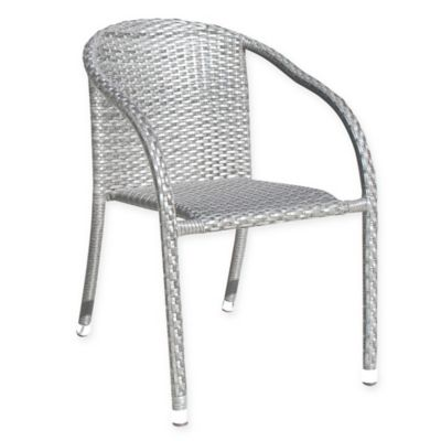 Athens Stackable Woven Patio Armchair in White Wash  sc 1 st  Bed Bath u0026 Beyond & Buy Aluminum Patio Chairs | Bed Bath u0026 Beyond