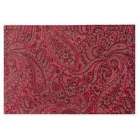 Waterford® Linens Esmerelda Placemats in Crimson (Set of 4)