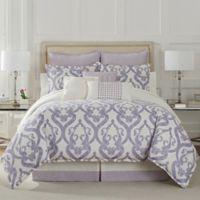 Eva Longoria Veracruz Queen Comforter Set in Lilac