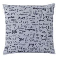ED Ellen DeGeneres Vicente Words Throw Pillow in Grey