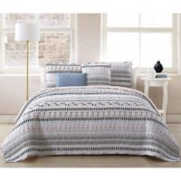 Prescott Reversible King Quilt Set in White