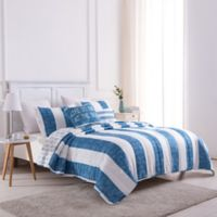 St. Thomas Reversible Twin Quilt Set in Blue
