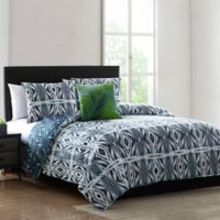 Paxton Geometric Full/Queen Comforter Set in Blue
