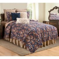 C&F Home Rosamund Reversible Full/Queen Quilt Set in Blue