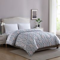 Ellison First Asia Westport 5-Piece Reversible Full Comforter Set in Grey