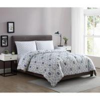 Ellison First Asia Westport 4-Piece Reversible Twin Comforter Set in Taupe
