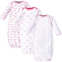 Luvable Friends® 3-Pack Elephant Hearts Sleep Gowns in Pink