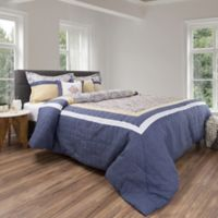 Nottingham Home 5-Piece King Comforter Set in Blue/Yellow