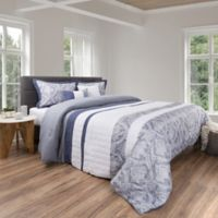 Nottingham Home 5-Piece King Comforter Set in Grey/White