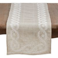 Saro Lifestyle Penelope 68-Inch Table Runner in Natural