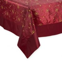 Saro Lifestyle Sevilla 65-Inch x 84-Inch Oblong Tablecloth in Burgundy