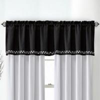 Catelyn Ruffled Window Valance in Black/White