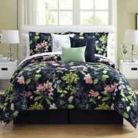 Augustine 7-Piece Queen Comforter Set in Navy/Blue
