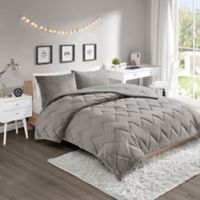 Intelligent Design Kai 3-Piece Reversible Full/Queen Comforter Set in Grey