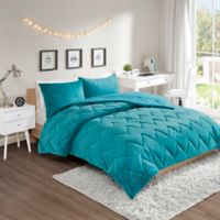 Intelligent Design Kai 3-Piece Reversible Full/Queen Comforter Set in Teal