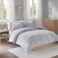 Intelligent Design Carson 3-Piece Reversible Full/Queen Comforter Set in Grey